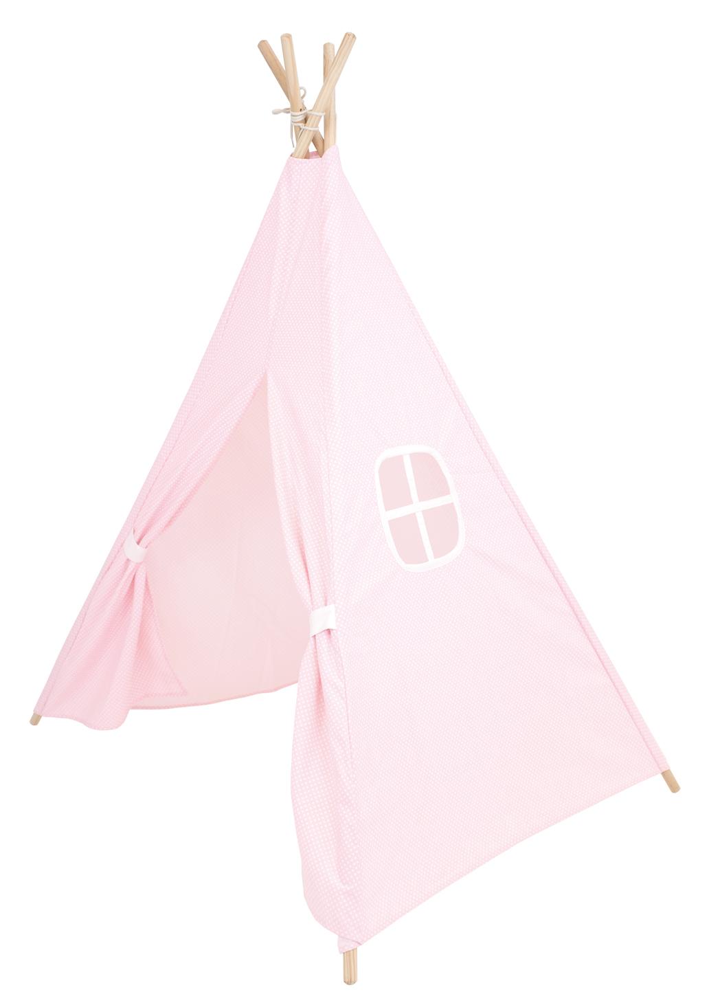 Spielzelt Tipi Zelt aus Stoff rosa