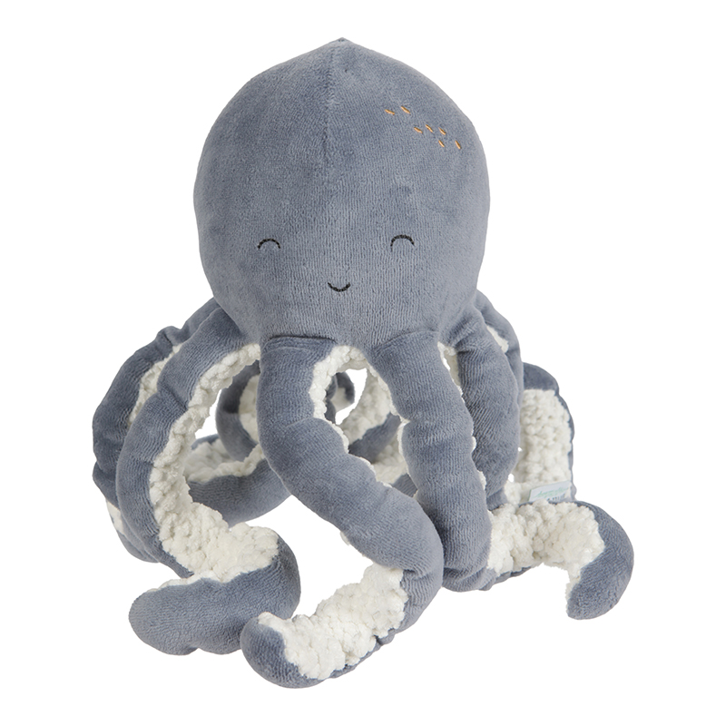 Stofftier Plüschtier Oktopus Ocean blau