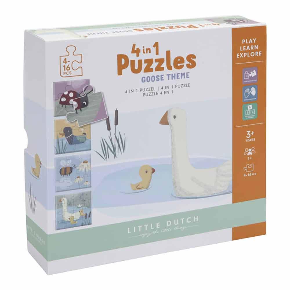 Puzzle Kleine Gans 4in1