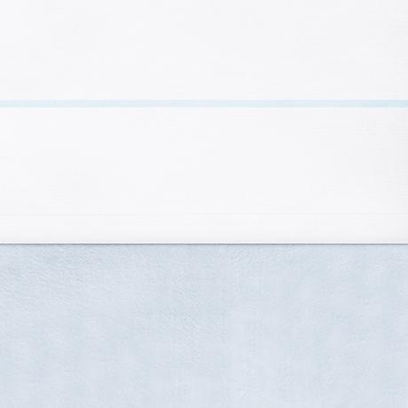 Jollein Laken weiß mit Paspel hellblau 75 x 100 cm AV!!!