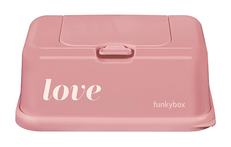 Feuchttücher Aufbewahrungsbox Love altrosa
