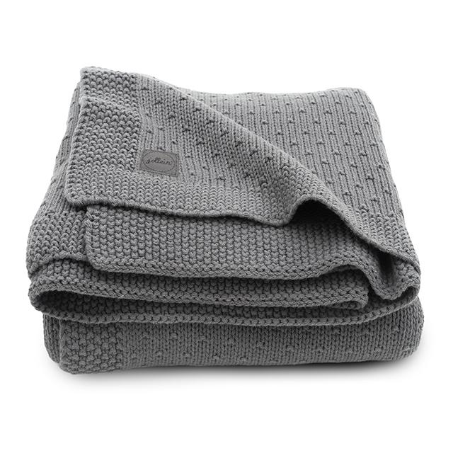 Baby Strickdecke Bliss Knit grau (Gr. 75x100 cm)