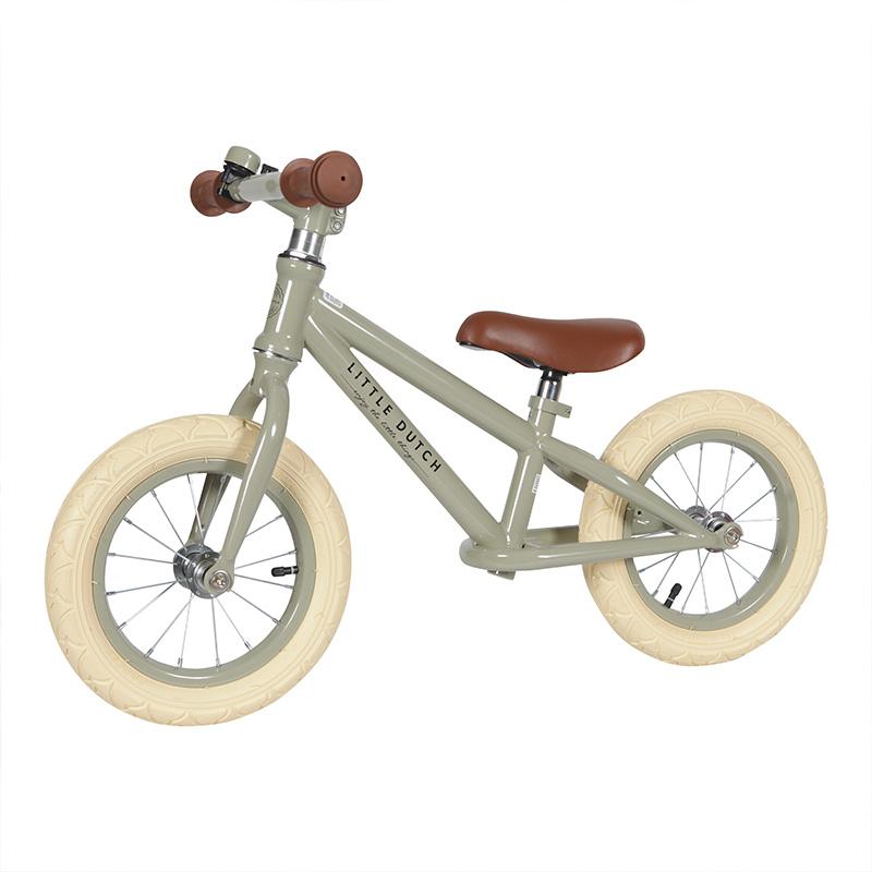 Kinder Laufrad Fahrrad 12 Zoll olivgrün