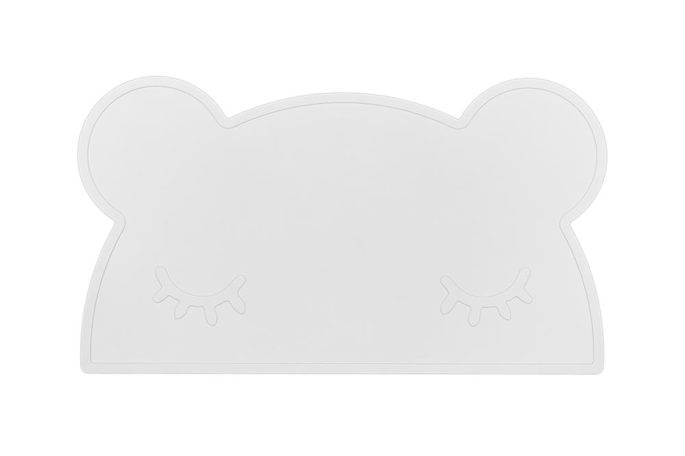 Silikon Tischset Bär weiß