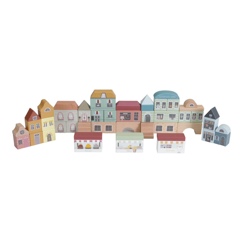 Holz Häuser Bauklötze Stadtgebäude