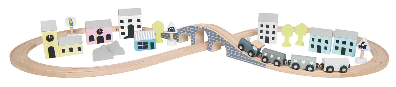 Holz Eisenbahn Set