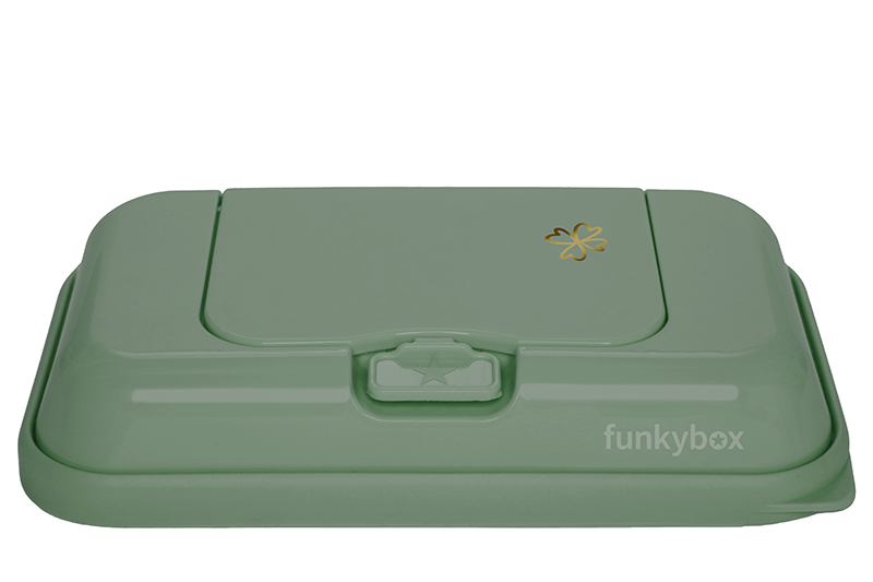 Feuchttücher Aufbewahrungsbox ToGo Kleeblatt grün