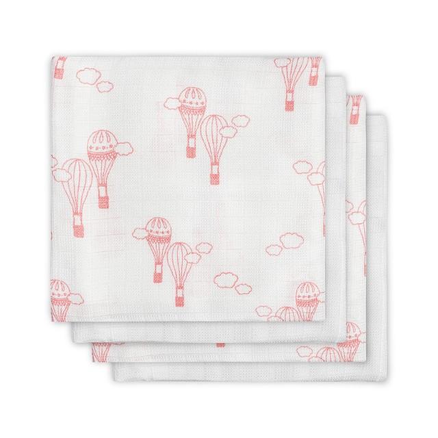 Mulltücher Swaddle 4er Set Luftballons rosa (115x115 cm)