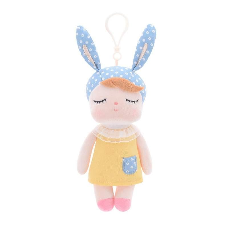 Mini Stoffpuppe Angela mit Anhänger gelb 20 cm