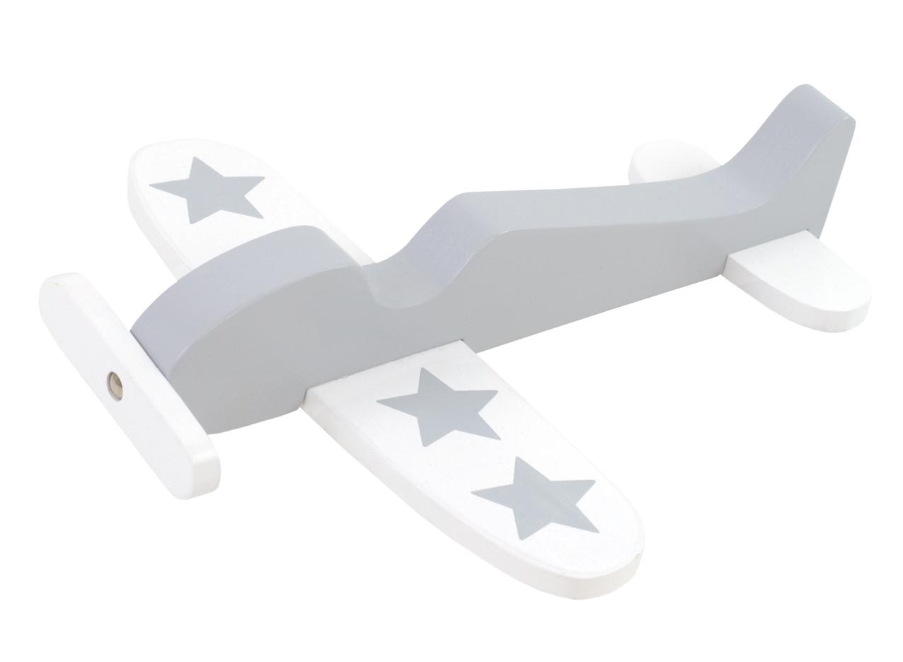 Holz Flugzeug grau