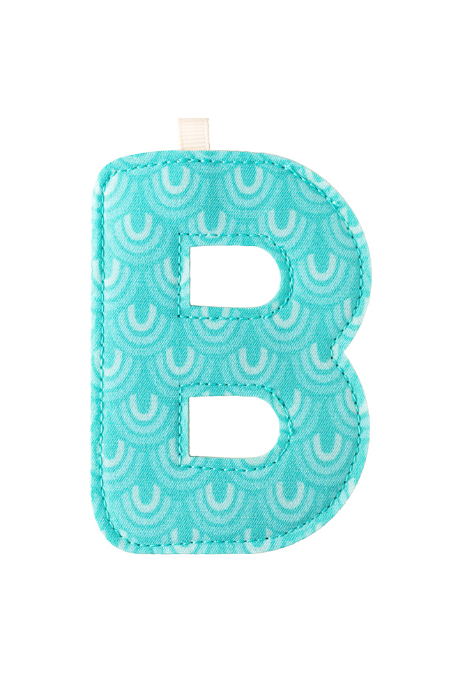 "Stoffbuchstabe ""B"" hellblau"