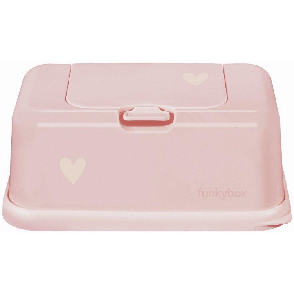 Feuchttücher Aufbewahrungsbox Herzchen rosa