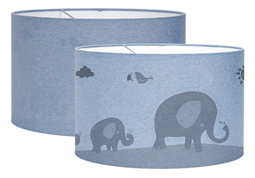 Hängelampe Silhouette Zoo blau