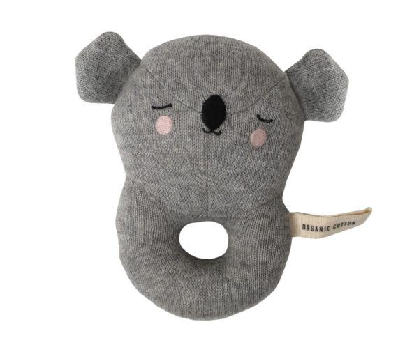 Stoff Rassel Greifling Koalabär grau