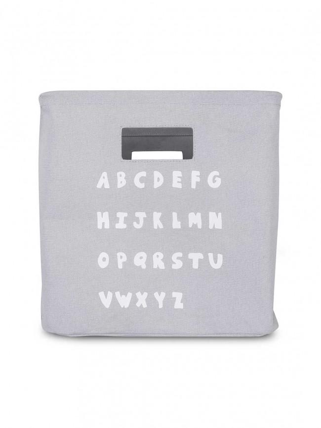 Korb / Kiste / Box zur Aufbewahrung ABC grau