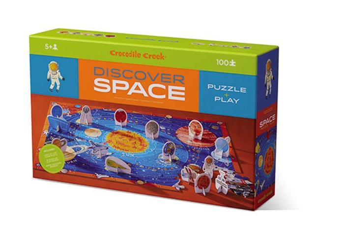 Puzzle Weltraum mit Figuren 100 Teile