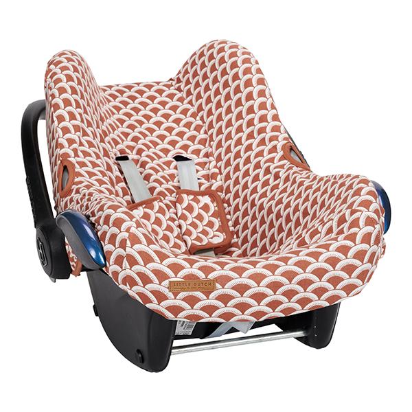 Bezug für Babyschale Sunrise rost orangerot