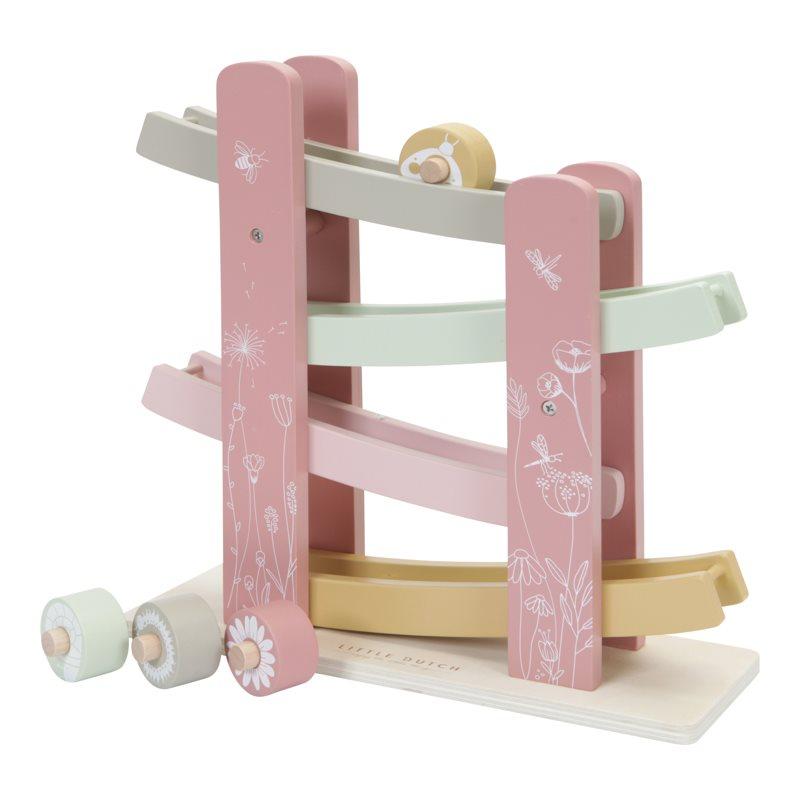 Holz Kugelbahn Wild Flowers rosa