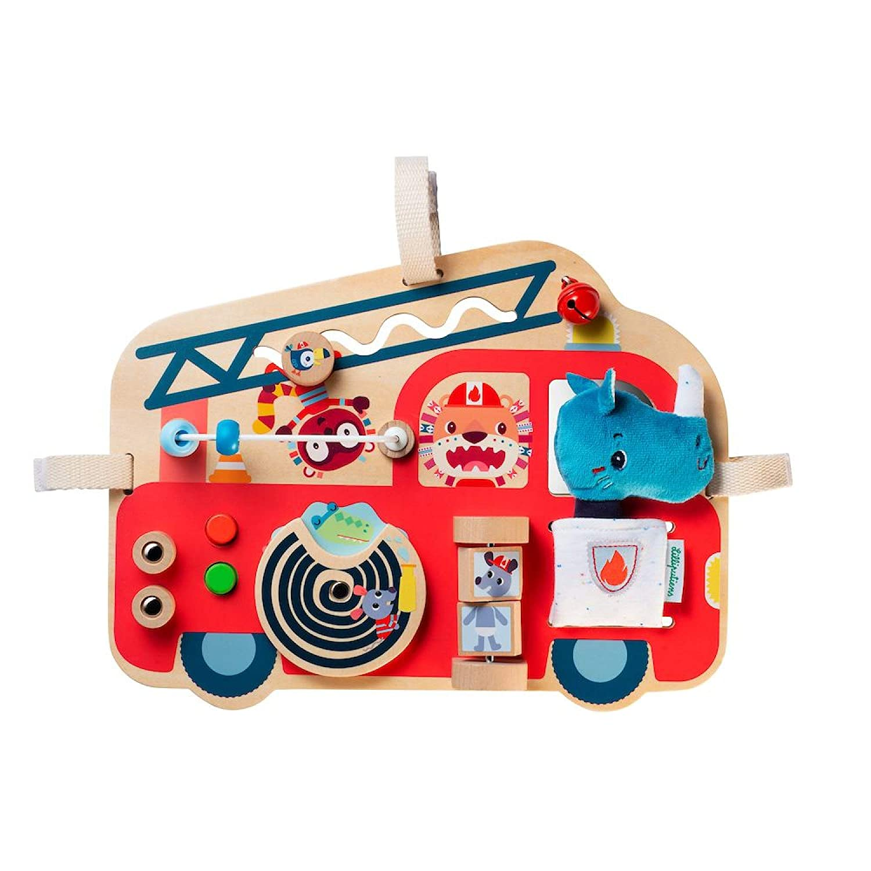 Holz Spielboard Feuerwehrauto