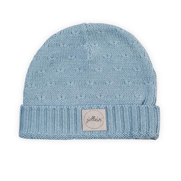 Jollein Strick Mütze Soft Knit hellblau Größe: 2-9 Monate AV!!!