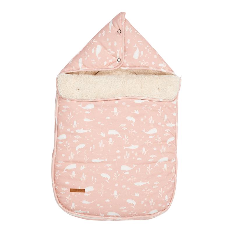 Fußsack für Babyschale Ocean rosa