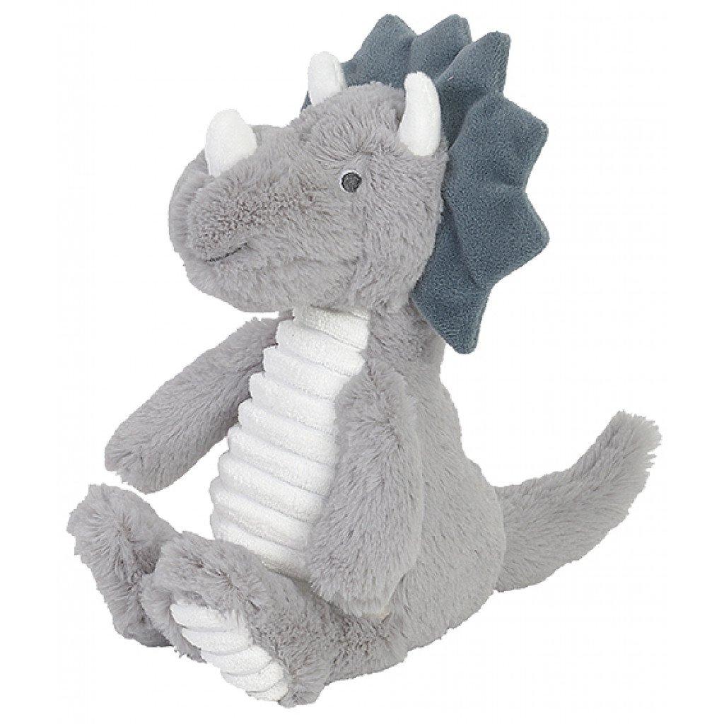 Plüsch Dinosaurier Triceratops Stofftier Kuscheltier grau 27 cm