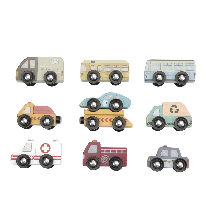 Holz Autos Fahrzeuge Set 10-teilig