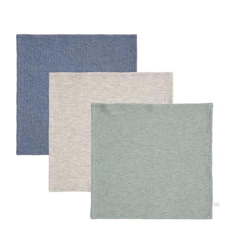 Spucktücher 3er Set Pure blau grau mint