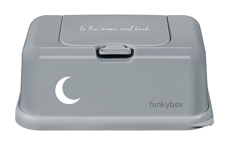 Feuchttücher Aufbewahrungsbox Mond grau