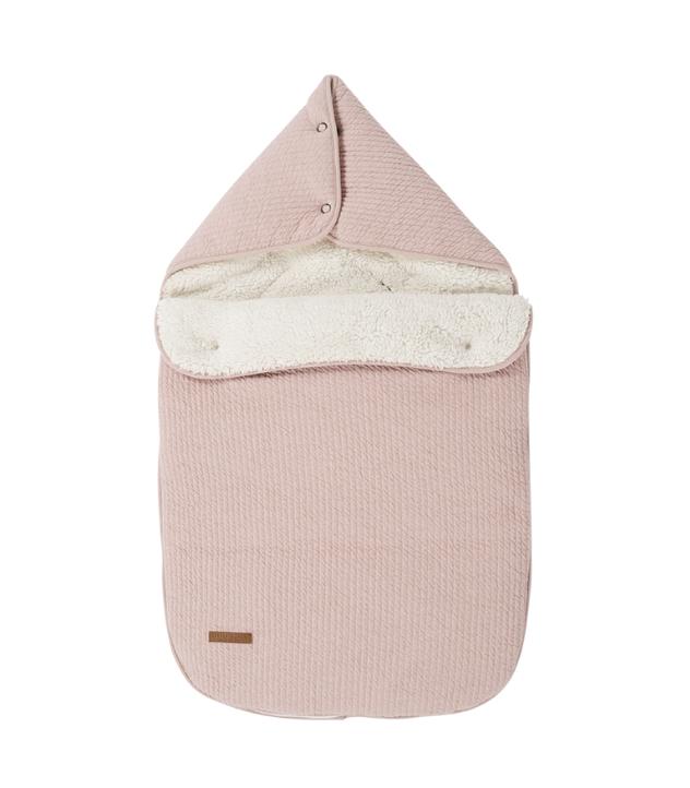 Fußsack für Babyschale Pure rosa