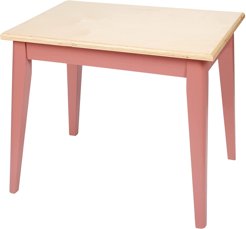 Holz Kindertisch Blush pink