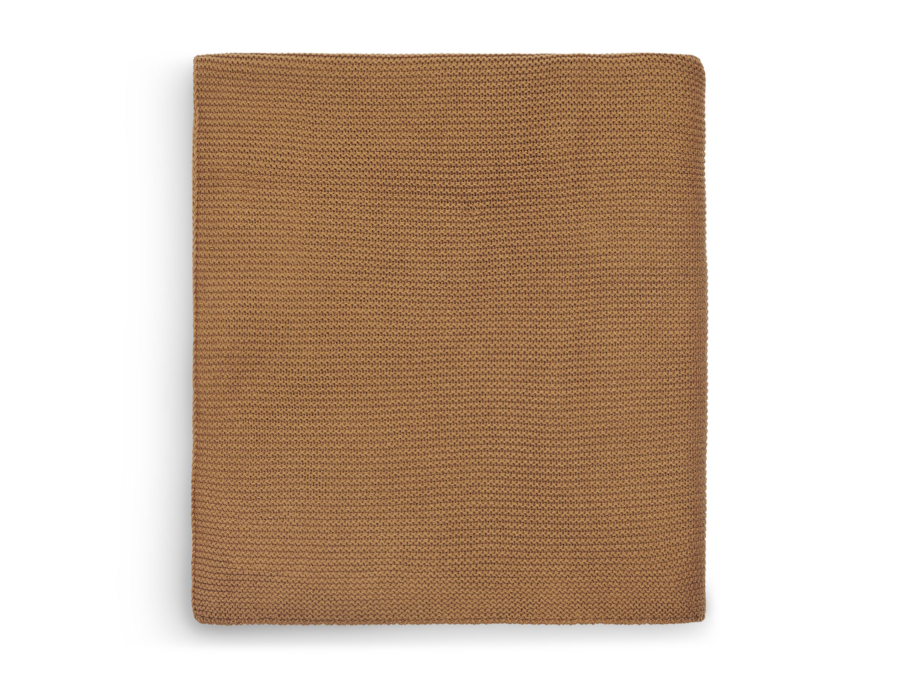 Babydecke Strickdecke Basic knit Karamell rostbraun (Gr. 75x100 cm)