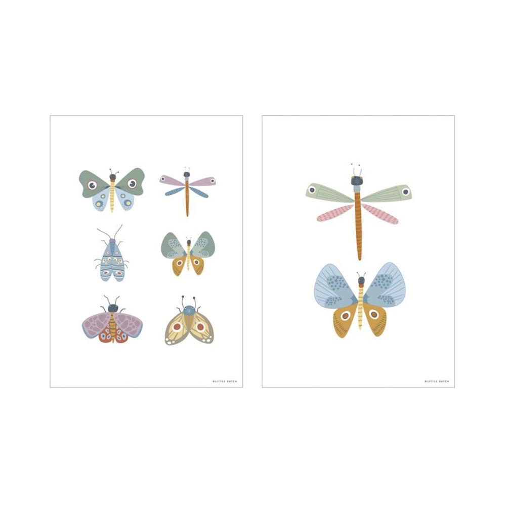 Poster A3 2 bedruckte Seiten Butterfly Schmetterling