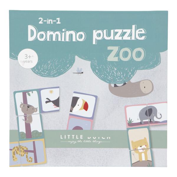 Domino Puzzle Zoo Tiere 2 in 1 Spiel