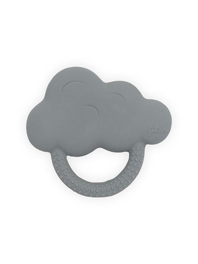 Beißring aus Naturkautschuk Wolke grau
