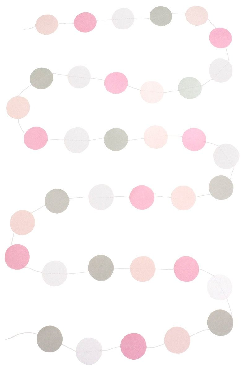 Girlande Papier rosa
