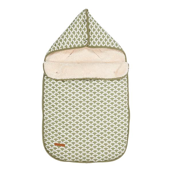 Fußsack für Babyschale Sunrise olive grün