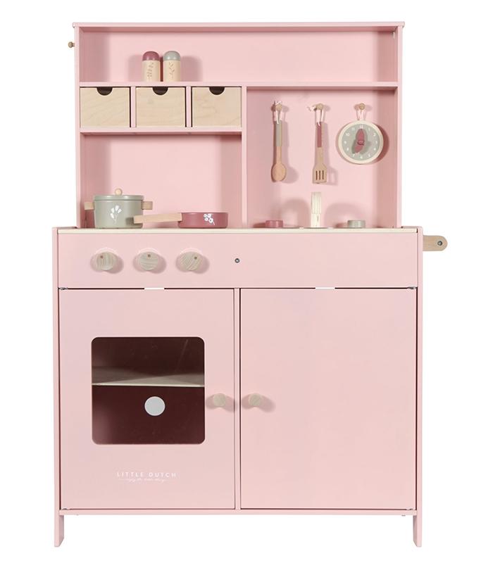 Holz Kinderküche rosa inkl. Zubehör