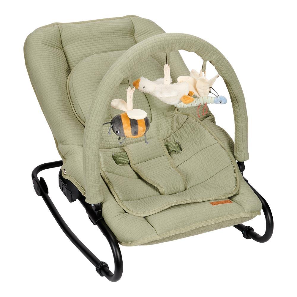 Babywippe mit Schaukelfunktion ab Geburt bis 9 kg, tragbar, verstellbare R