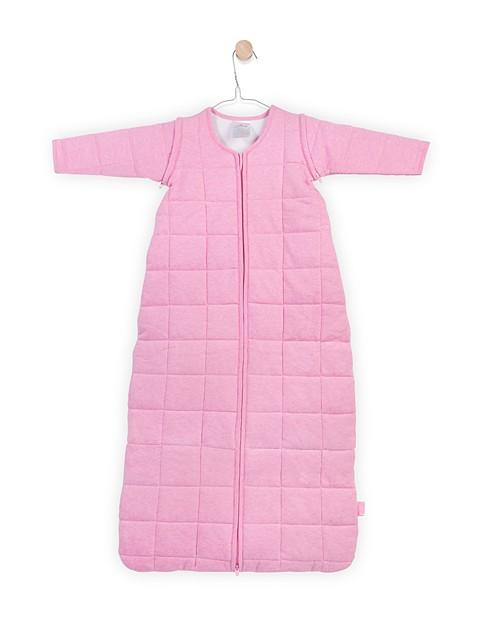4 Jahreszeiten Schlafsack mit abnehmbaren Ärmel rosa melee Gr. 90 cm