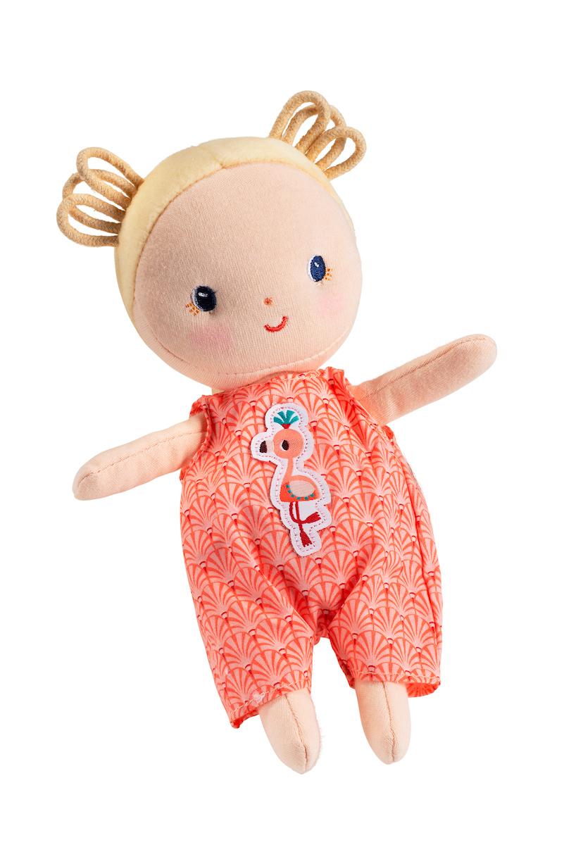 Stoffpuppe Baby Anais mit Tragekorb und Zubehör