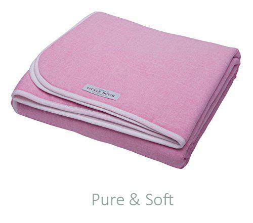 Babydecke mit Teddyfell pink 70x100 cm