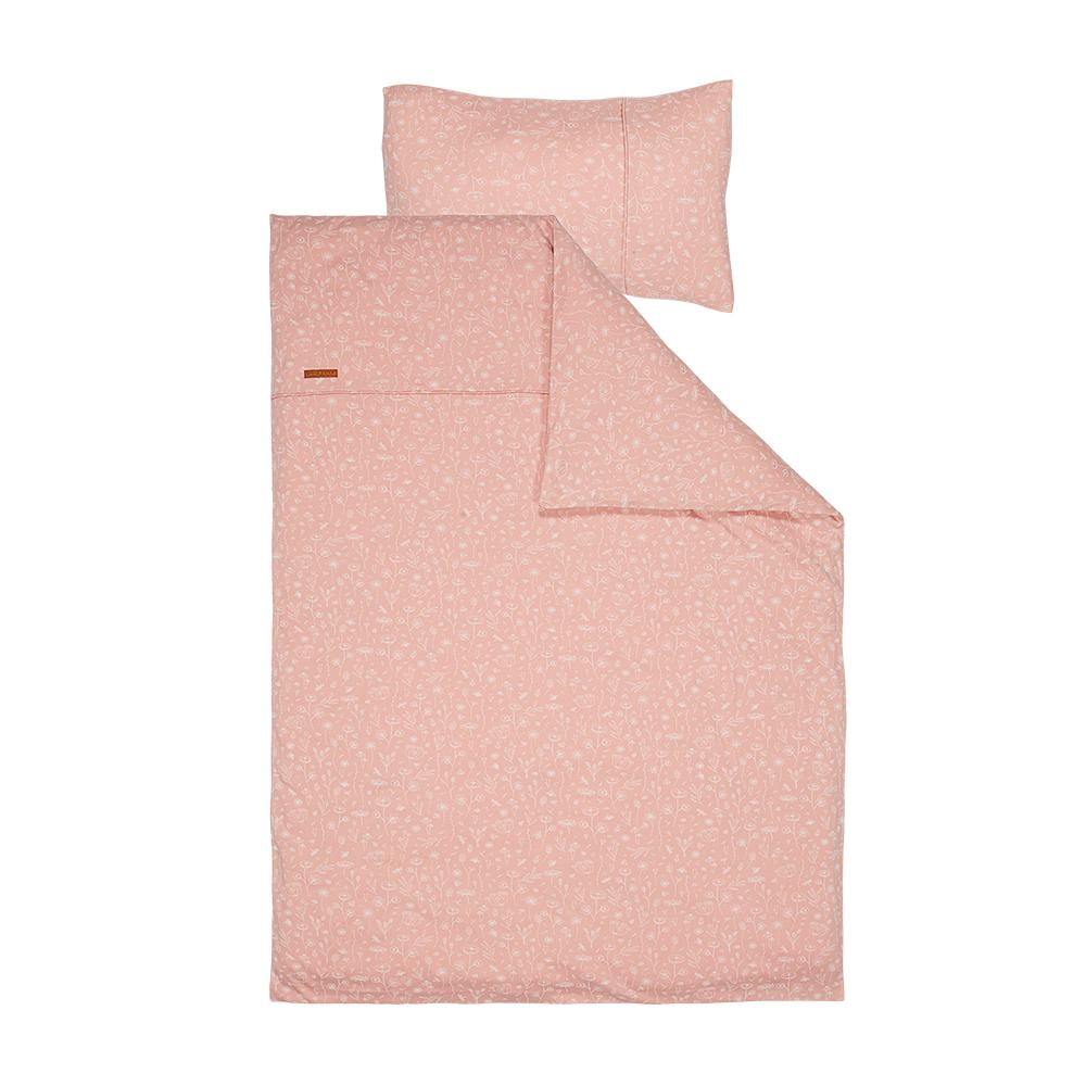 Kinderbettwäsche Wild Flowers rosa (Gr. 100x140 cm + 40x60 cm)