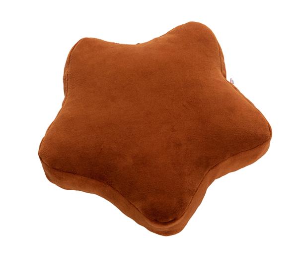 Samt Kissen Stern rostbraun 30x30x4 cm