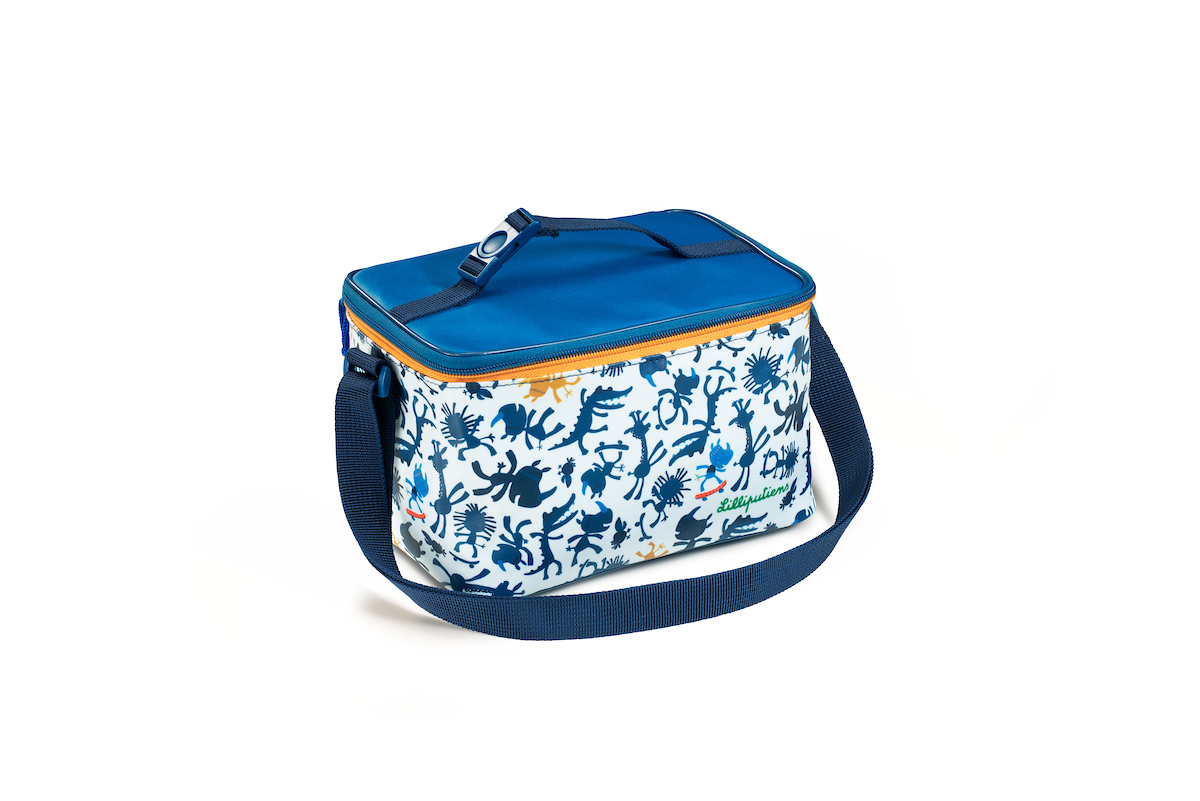 Picknicktasche Kühltasche Nashorn Marius weiß blau