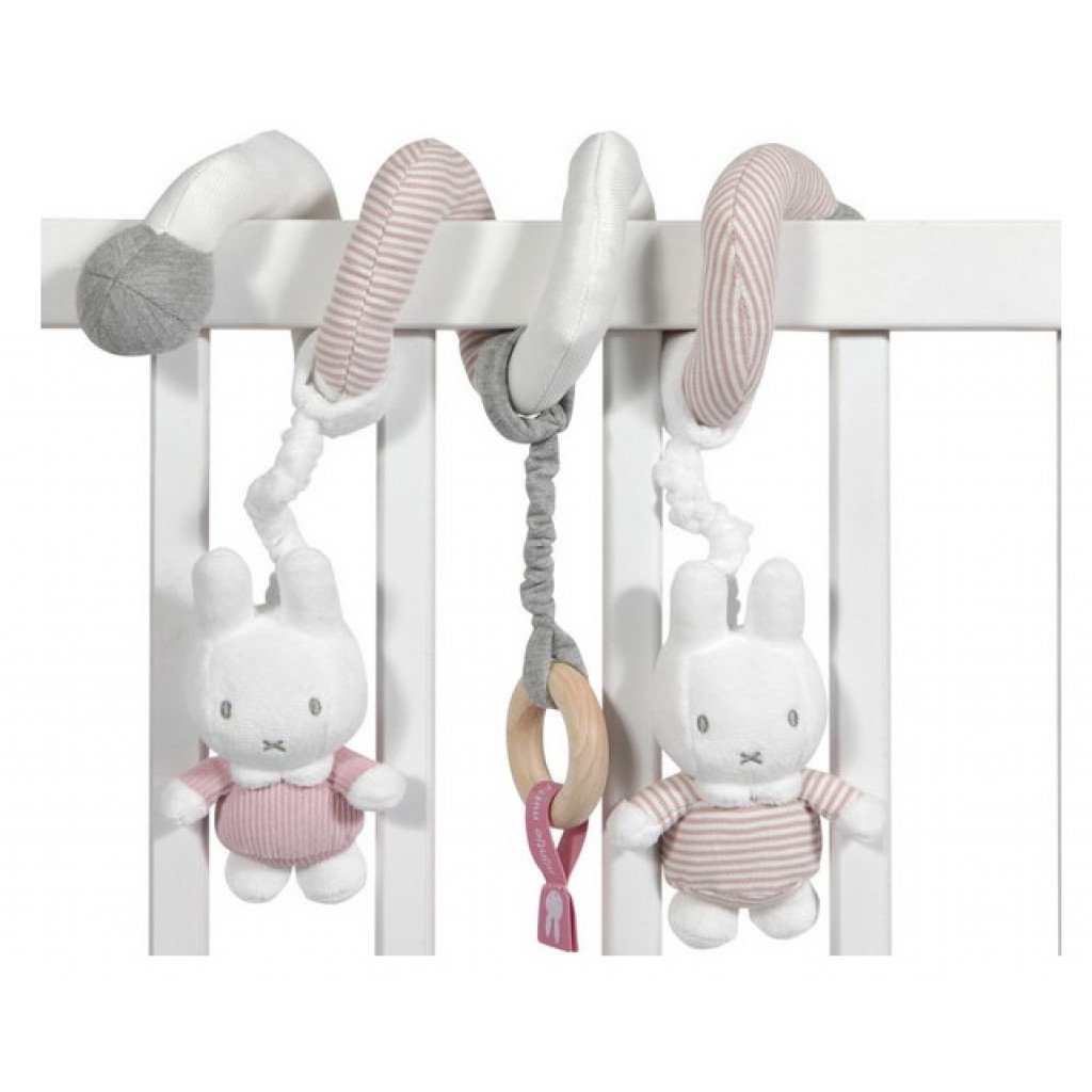 Activity Spielspirale Miffy Hase Cord rosa