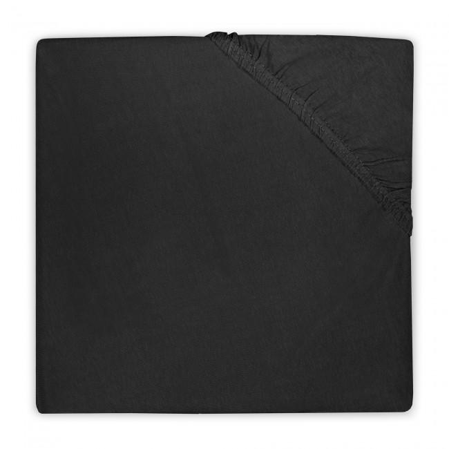 Spannlaken Jersey für Laufgitter schwarz (Gr. 75x95 cm)