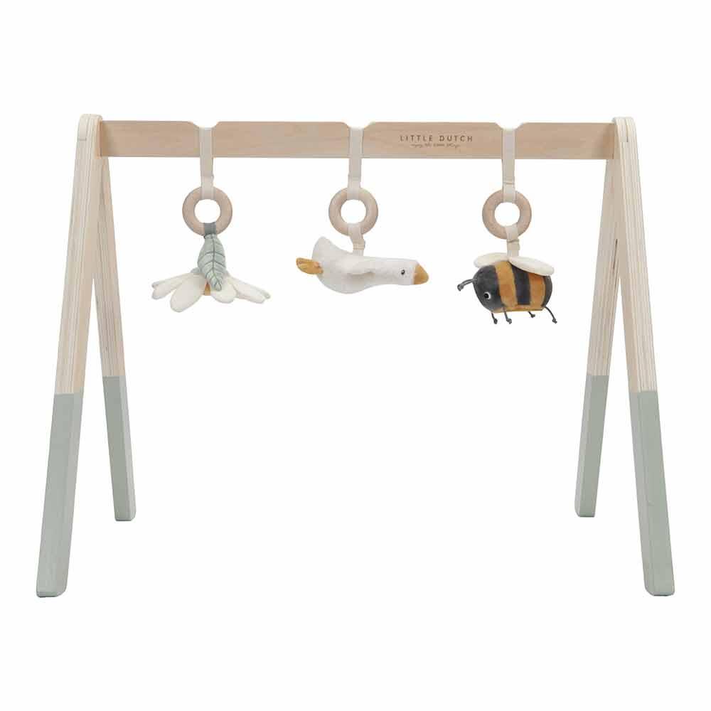 Baby Gym Spieltrapez Holz mit Stoff Anhänger Kleine Gans