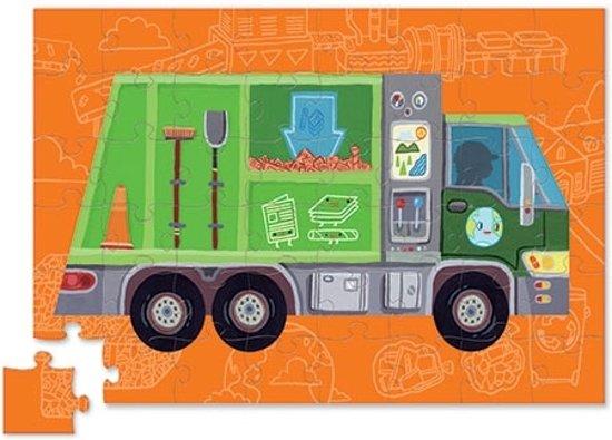 Puzzle auf Rädern Müllabfuhr Lastwagen 48 Teile
