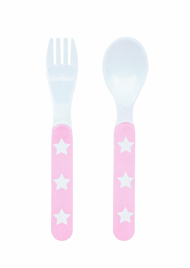 Besteck Set Melamin STARS rosa